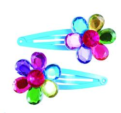 Kolli: 6 Flower Gem Hair Clips, 2 Pcs, Assorted