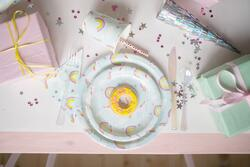 "Kolli: 4 Unicorn Plates, Large, 9"" (8 pcs)"