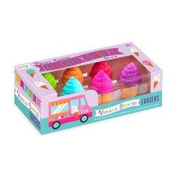 Kolli: 18 Petite Sweets Ice Cream Shoppe Scented Erasers - Set of 6