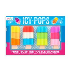 Kolli: 18 Icy Pops Scented Erasers - Set of 4
