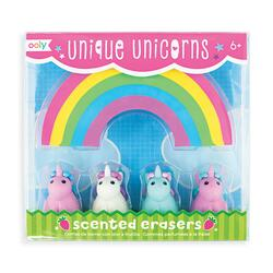 Kolli: 18 Unique Unicorns Scented Erasers - Set of 5