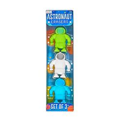 Kolli: 18 Astronaut Erasers - Set of 3