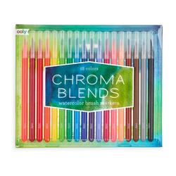 Kolli: 4 Chroma Blends Watercolor Brush Markers - Set of 18