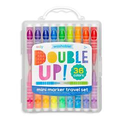 Kolli: 6 Double Up 2 in 1 Mini Marker Travel Set - Set of 36