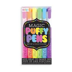 Kolli: 6 Magic Neon Puffy Pens - Set of 6