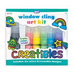 Kolli: 6 Creatibles DIY Window Cling Art Kit - 8 Pc Set