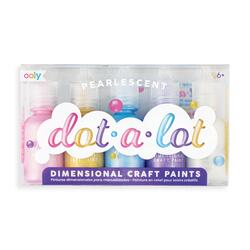 Kolli: 6 Dot-A-Lot Craft Paint - Pearlescent - Set of 5