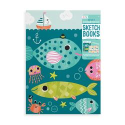 Kolli: 6 Doodle Pad Duo Sketchbooks: Friendly Fish - Set of 2