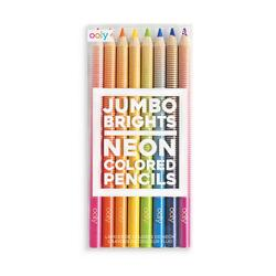 Kolli: 6 Jumbo Brights Neon Colored Pencils - Set of 8