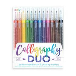 Kolli: 6 Calligraphy Duo Double Ended Markers - Set of 12