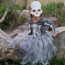 Kolli: 1 Skeleton Witch Dress/Mask 3/4