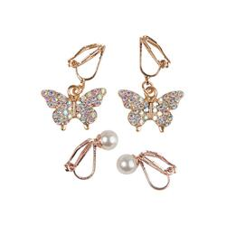 Kolli: 6 Boutique Butterfly Clip On Earrings, 2 Sets