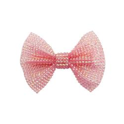 Kolli: 6 Boutique Pink Gem Bown Hairclip