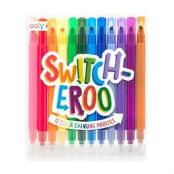 Kolli: 12 Switcheroo Color Changing Markers - Set of 12 - NEW LOOK!