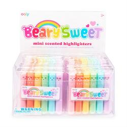 Kolli: 1 Beary Sweet Mini Scented Highlighters - Display of 24