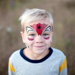 Kolli: 6 Spider Face Stickers