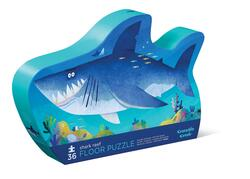 Kolli: 2 36 pcs Shaped Puzzle/Shark Reef