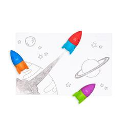 Kolli: 1 Blast Off! Erasers + Sharpeners - Tub of 30