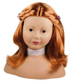 Kolli: 1 Haarwerk, red hair, brown eyes, 58-pcs.