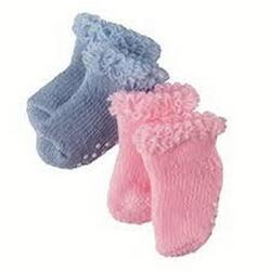 Kolli: 4 Set of socks, blue/pink, 30-42 cm, 2 pair