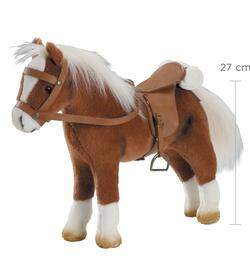 Kolli: 2 Horse, saddle and bridle, brown plush