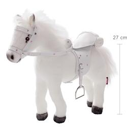 Kolli: 1 Horse, saddle and bridle, white plush & sound