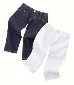 Kolli: 2 Trouser Set, jeans blue/white, 2x
