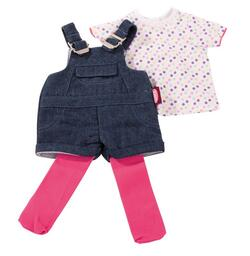 Kolli: 2 Jeans bib overall, T-shirt, tights