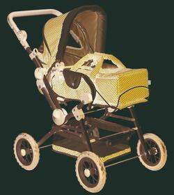 Kolli: 1 Doll stroller 4-wheel, spotty style