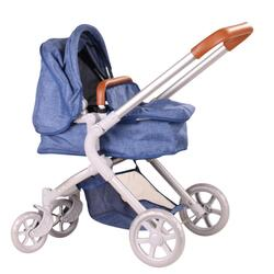 Kolli: 1 Doll stroller 4-wheel, 2 in 1, denim