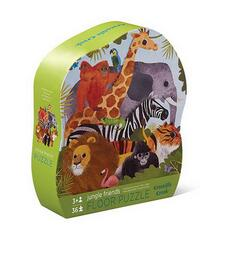 Kolli: 2 36 pc Shaped Puzzle/Jungle Friends (New)