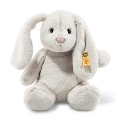 Soft Cuddly Friends Hoppie rabbit, light grey - 28 cm