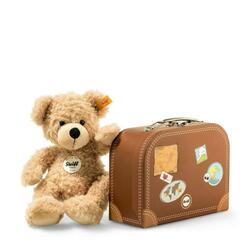 Fynn Teddy bear in suitcase, beige - 28 cm