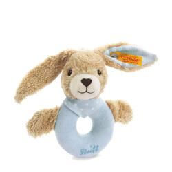 Kolli: 2 Hoppel rabbit grip toy with rattle, blue