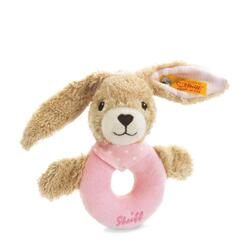 Kolli: 2 Hoppel rabbit grip toy with rattle, pink