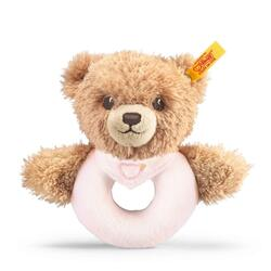 Kolli: 3 Sleep well bear grip toy with rattle, pink