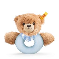 Kolli: 3 Sleep well bear grip toy with rattle, blue