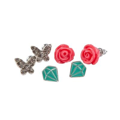Kolli: 6 Boutique Rose Studded Earrings, 3 Sets
