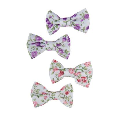 Kolli: 6 Boutique Liberty Mini Bow Hairclips, Asstd
