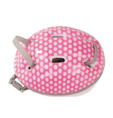 Kolli: 2 Helmet for bicycle/climbing, white dots