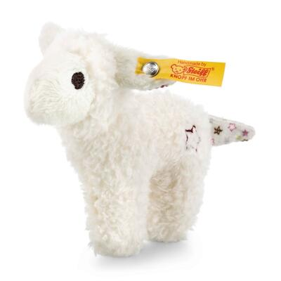 Kolli: 4 Mini lamb with rustling foil and rattle, white